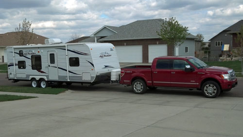 2012 F-150 Ecoboost towing a 2011 Jayco Jay Flight 26BH