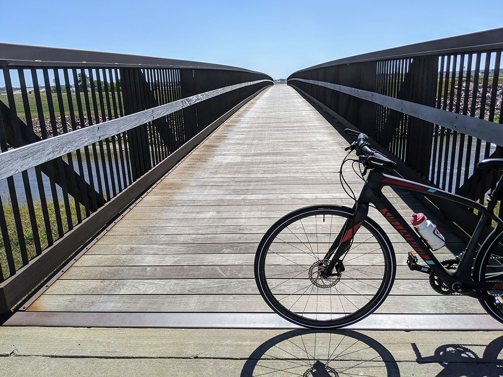 Bike Trail Bridge going over the Diversion Channel (northern Sioux Falls)