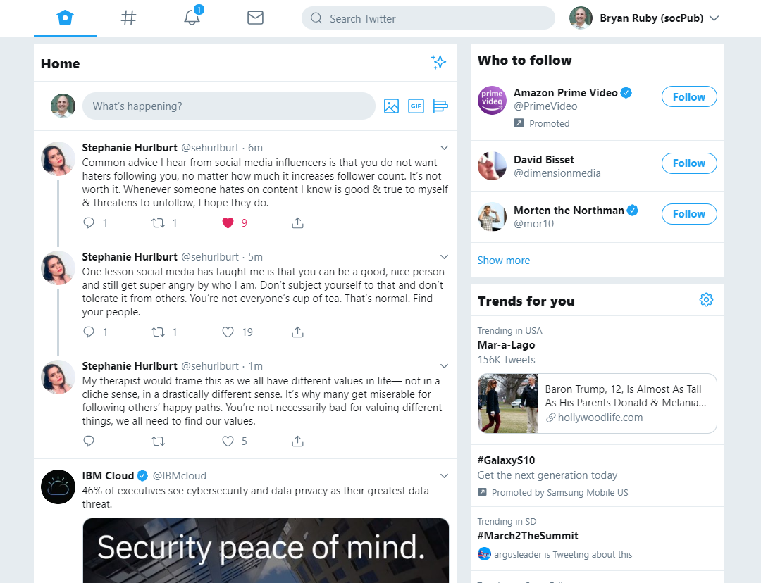 New Twitter Web Interface for 2019