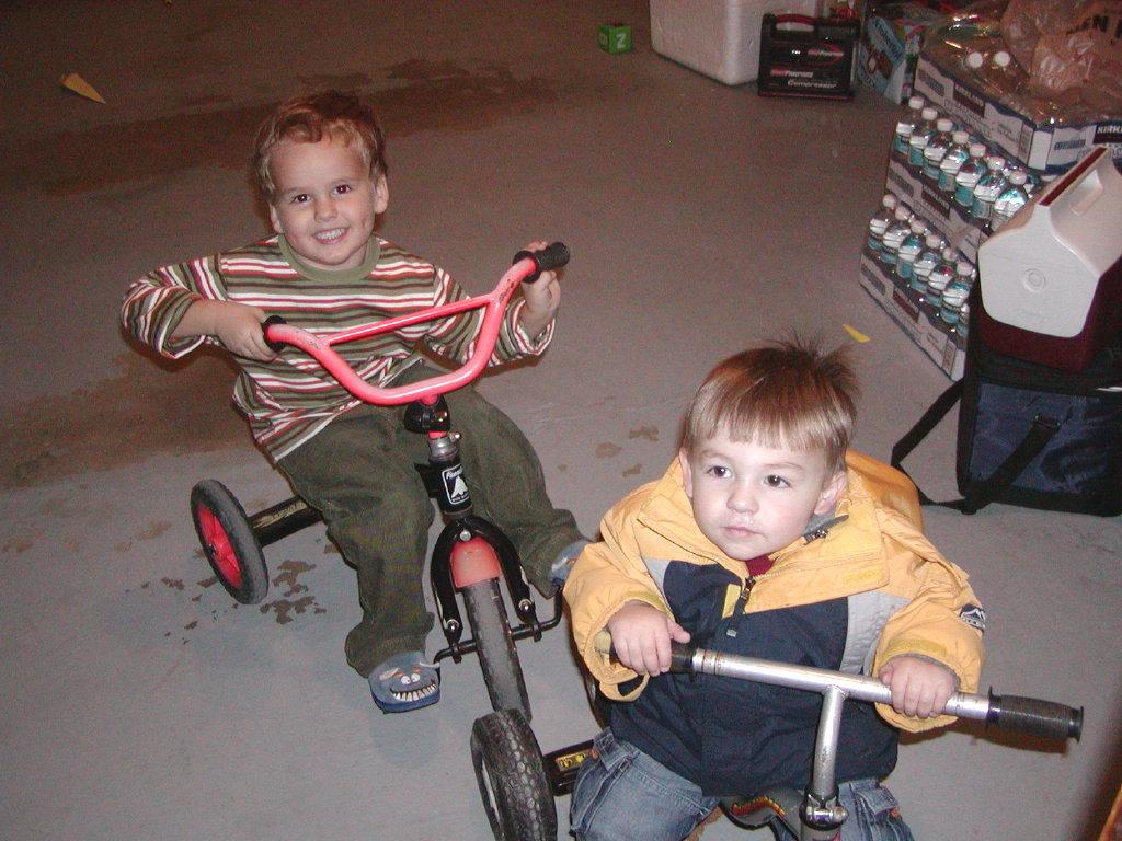 Logan and Preston at the Speedway