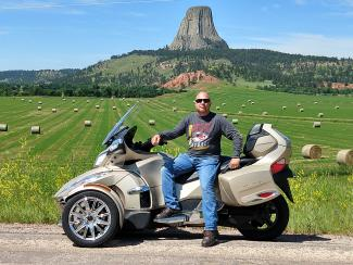 Bryan visiting Devil's Tower in Wyoming