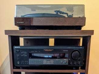 The Fluance RT82 Turntable and my old Sony STR-DE315 Receiver
