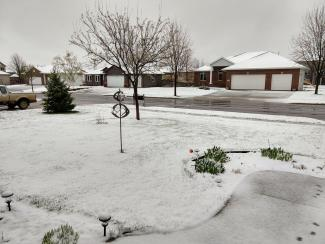 Snow fell on Saturday, April 27, 2019 in Sioux Falls, South Dakota