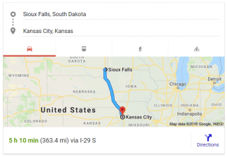 Sioux Falls to Kansas City