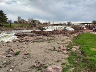 Sioux Falls Waterfall in April 2019